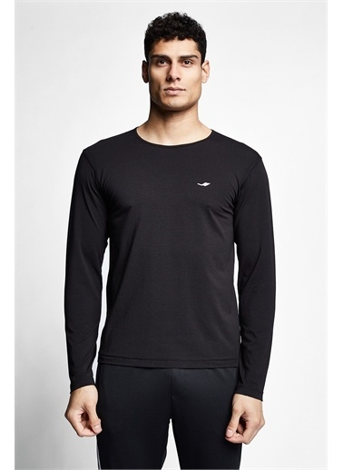 Lescon Siyah Erkek Uzun Kollu T-shirt 21S-1236-21N Siyah